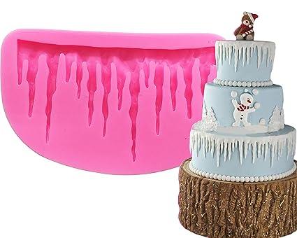 ice silicone mold kootips 3d cold shape silicone mold fondant cake mold decorating bakeware christmas - Christmas Cake Decorations Amazon