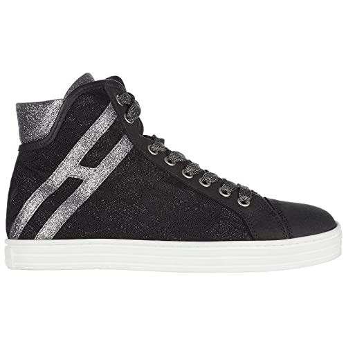 Hogan Rebel Scarpe Sneakers Alte Donna in Pelle Nuove r182 Nero EU 36  HXW1820I650FKG358D  Amazon.it  Scarpe e borse c1a64298dc7