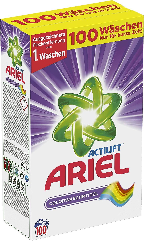 Ariel Detergente en Polvo, 6500 g, 100 lavados: Amazon.es: Salud y ...