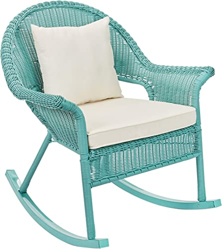 BrylaneHome Roma All-Weather Rocking Chair, Haze