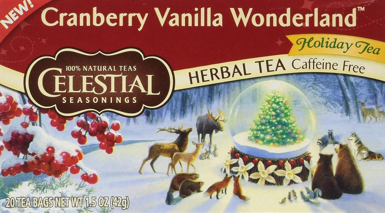 CELESTIAL SEASONINGS CRANBERRY VANILLA TEA (PACK OF 6)