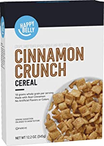 Amazon Brand - Happy Belly Cinnamon Crunch Cereal, 12.2 Ounce