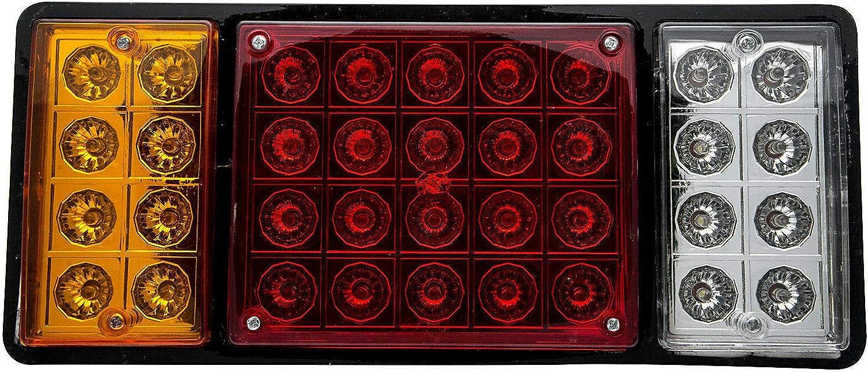 Feux arri/ère /à DEL 2 x 36 LED 12V LED Feux Arriere Arr/êt Indicateur Lampe Pour Remorque Camion etanche mat/ériau ABS