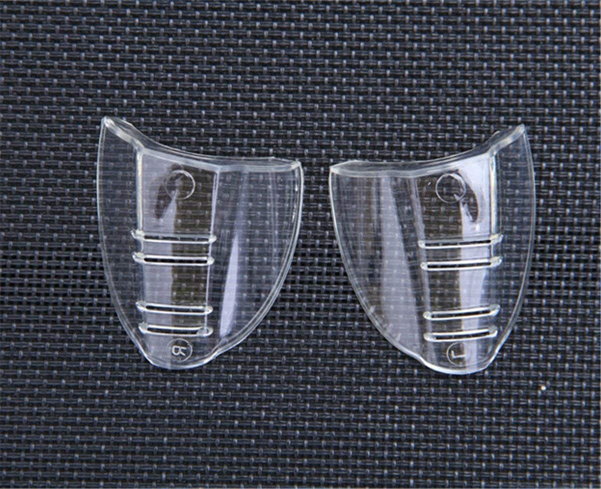 GLUK 2 Pairs Safety Glasses Side Shields Anti-Slip On Clear Side Shields for Safety Glasses Fits Small//Medium Eyeglasses