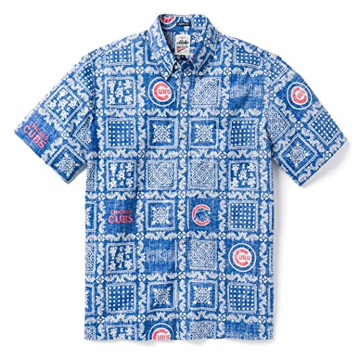 ffc1d6962 Reyn Spooner Men's Chicago Cubs MLB Classic Fit Hawaiian Shirt at Amazon Men's  Clothing store: