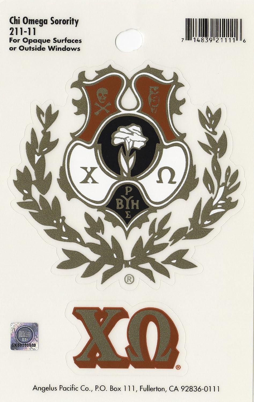 Chi Omega Sorority Crest Sticker