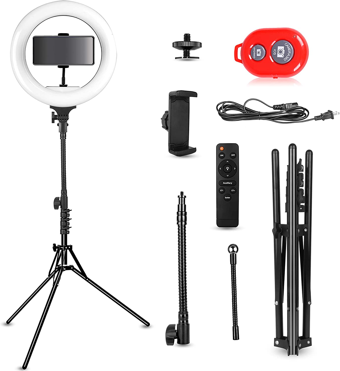 Emart 14 inch Bi-Color LED Ring Light Photography with Stand Ultra Thin Innovation 40W Dimmable /& Color Temperature Adjustable Circle Makeup Lighting Kit for Shooting YouTube Video