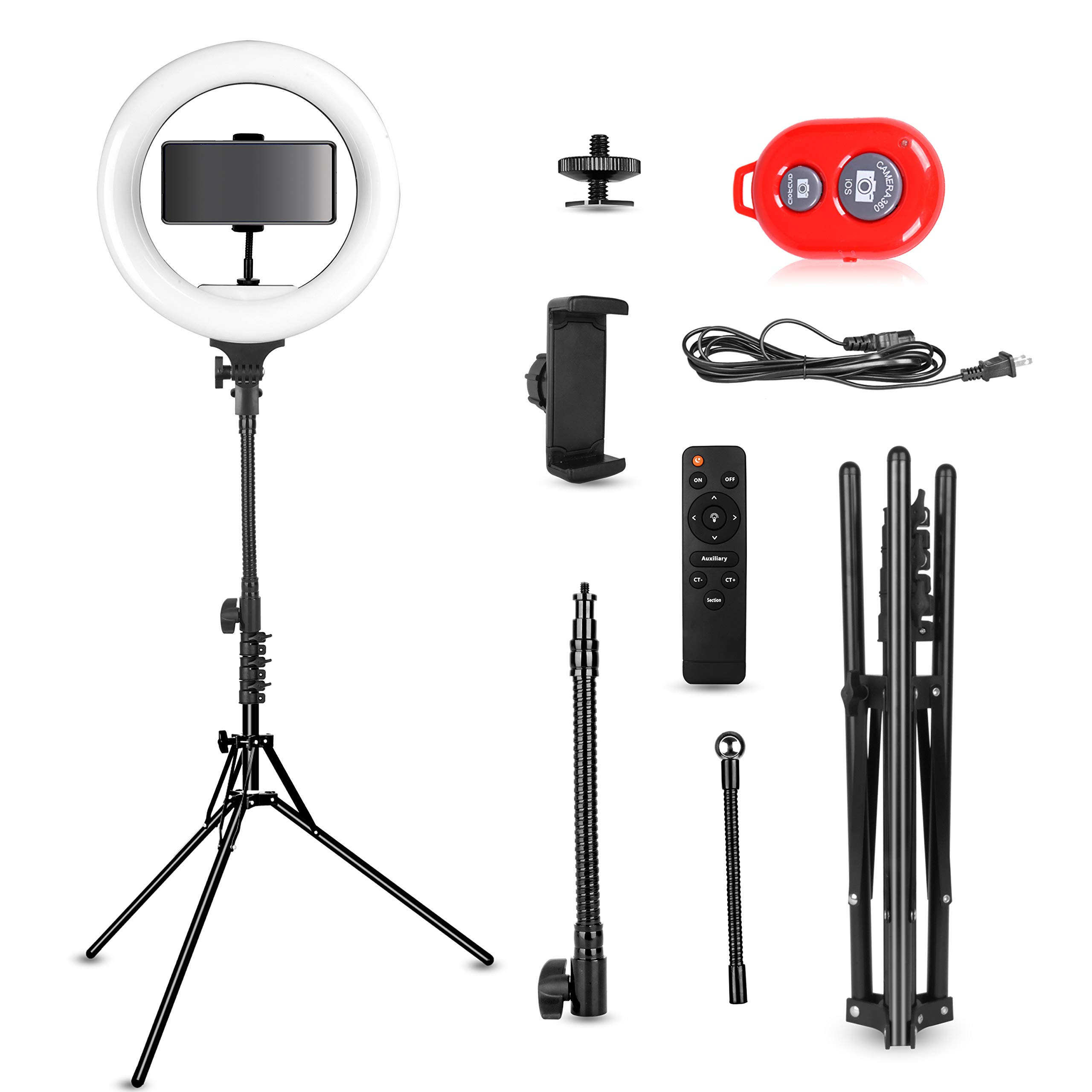 Emart 14 inch Bi-Color LED Ring Light Photography with Stand - Ultra Thin Innovation, 40W Dimmable & Color Temperature Adjustable Circle Makeup Lighting Kit for Shooting YouTube Video by EMART