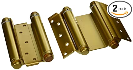 Ultra Hardware 6u0026quot; Heavy Duty Brass Double Action Spring Hinges For Door  ...
