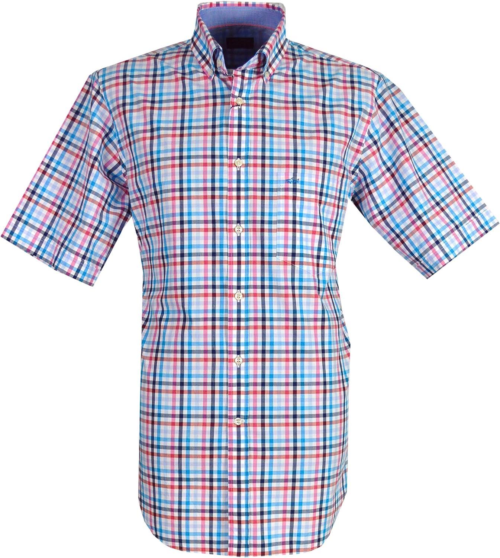 Paul & Shark - Camisa casual - con botones - Manga Corta - para hombre Azul Azul marino, azul, rosa. XX-Large: Amazon.es: Ropa y accesorios