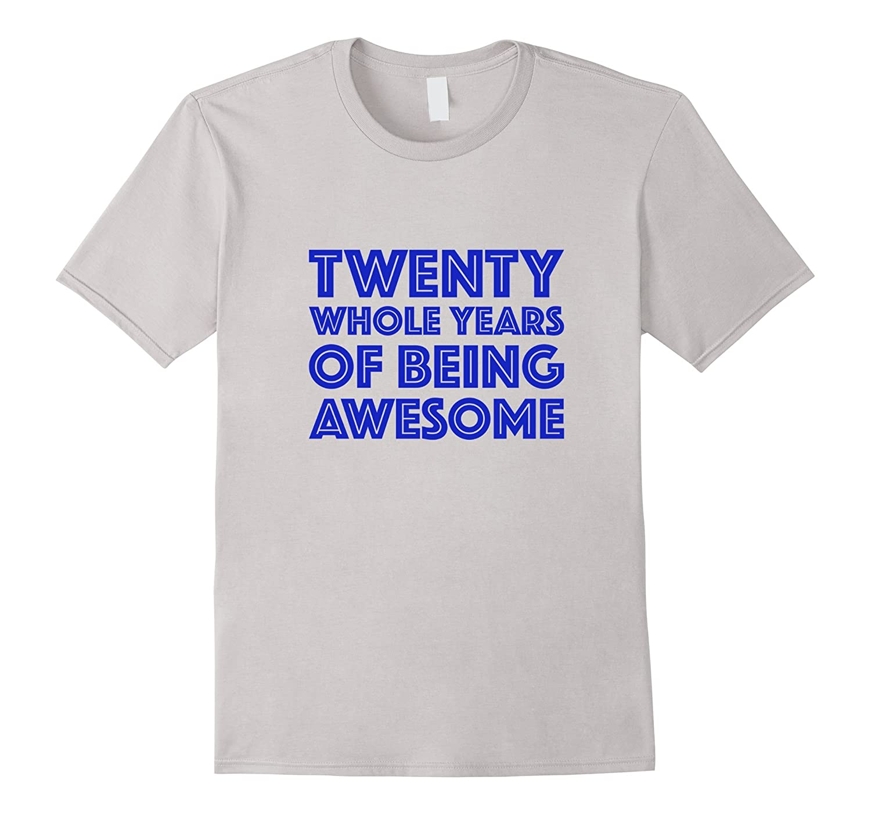 20th Birthday Shirt Gift Men Age 20 Year Old Mens Tshirt Boy ANZ