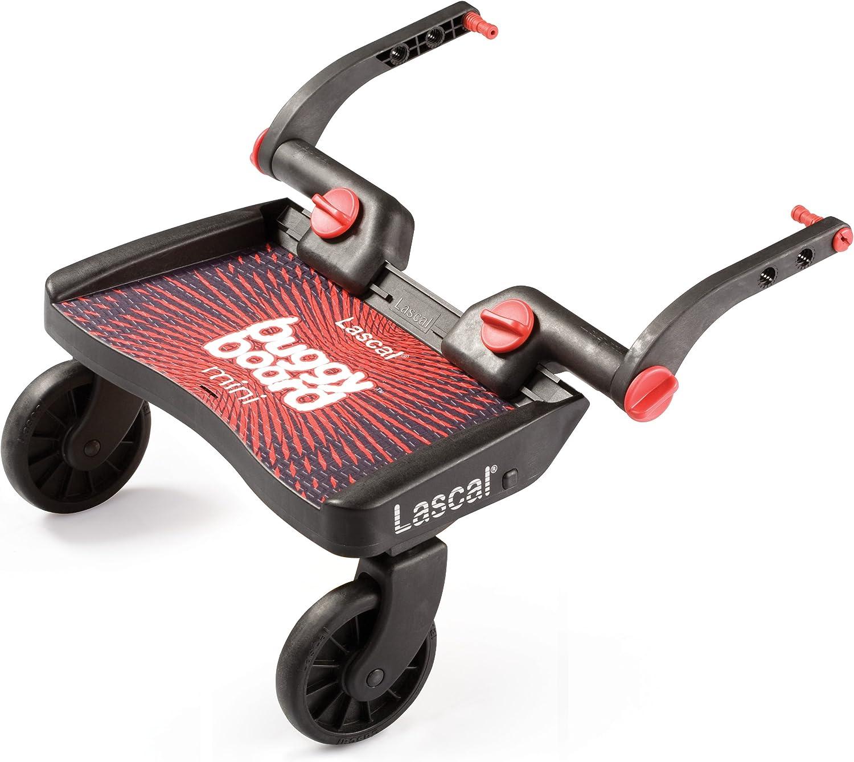 LA2850 BuggyBoard Mini Planche /à Roulettes Noir // Rouge Lascal