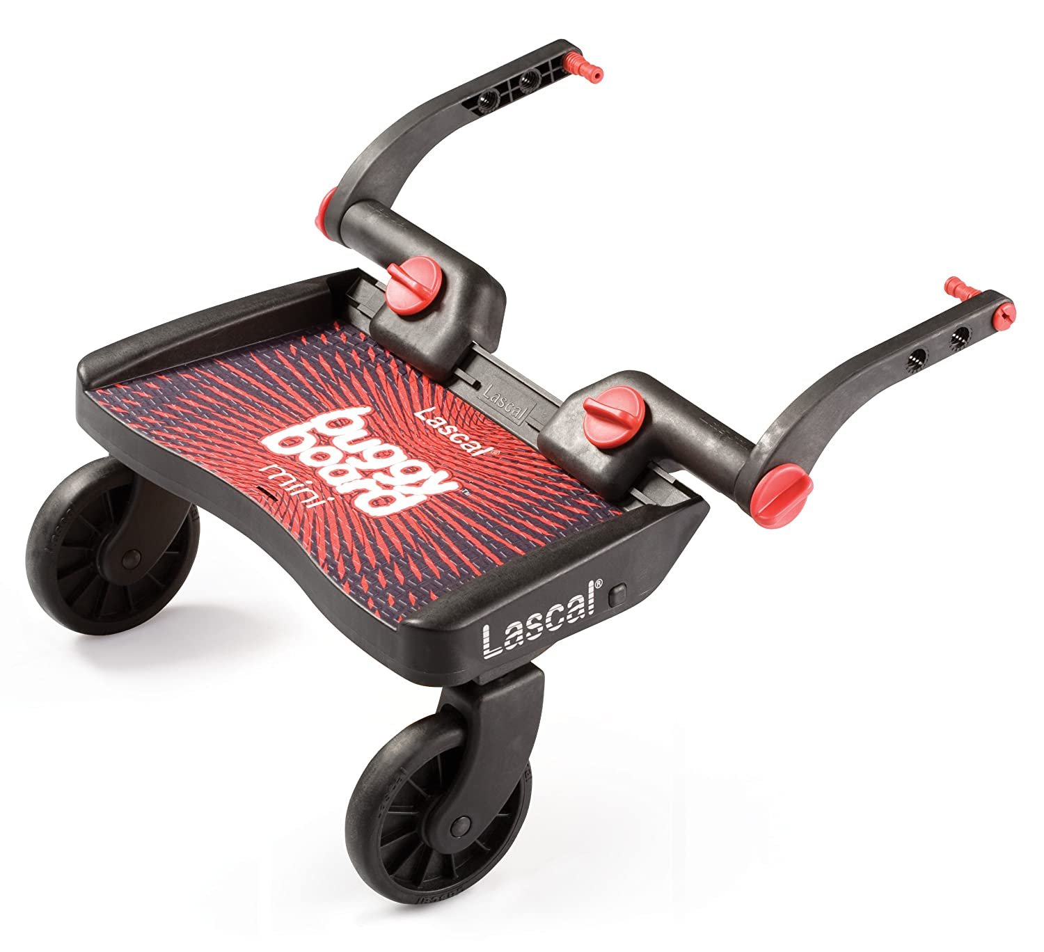 Lascal 2850 - Buggy Board Mini - Tabla con ruedas para carrito, color rojo y negro: Amazon.es: Bebé