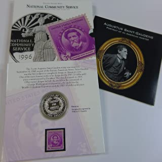 1996 S National Community Service Proof Coin & Stamp Set Mint State
