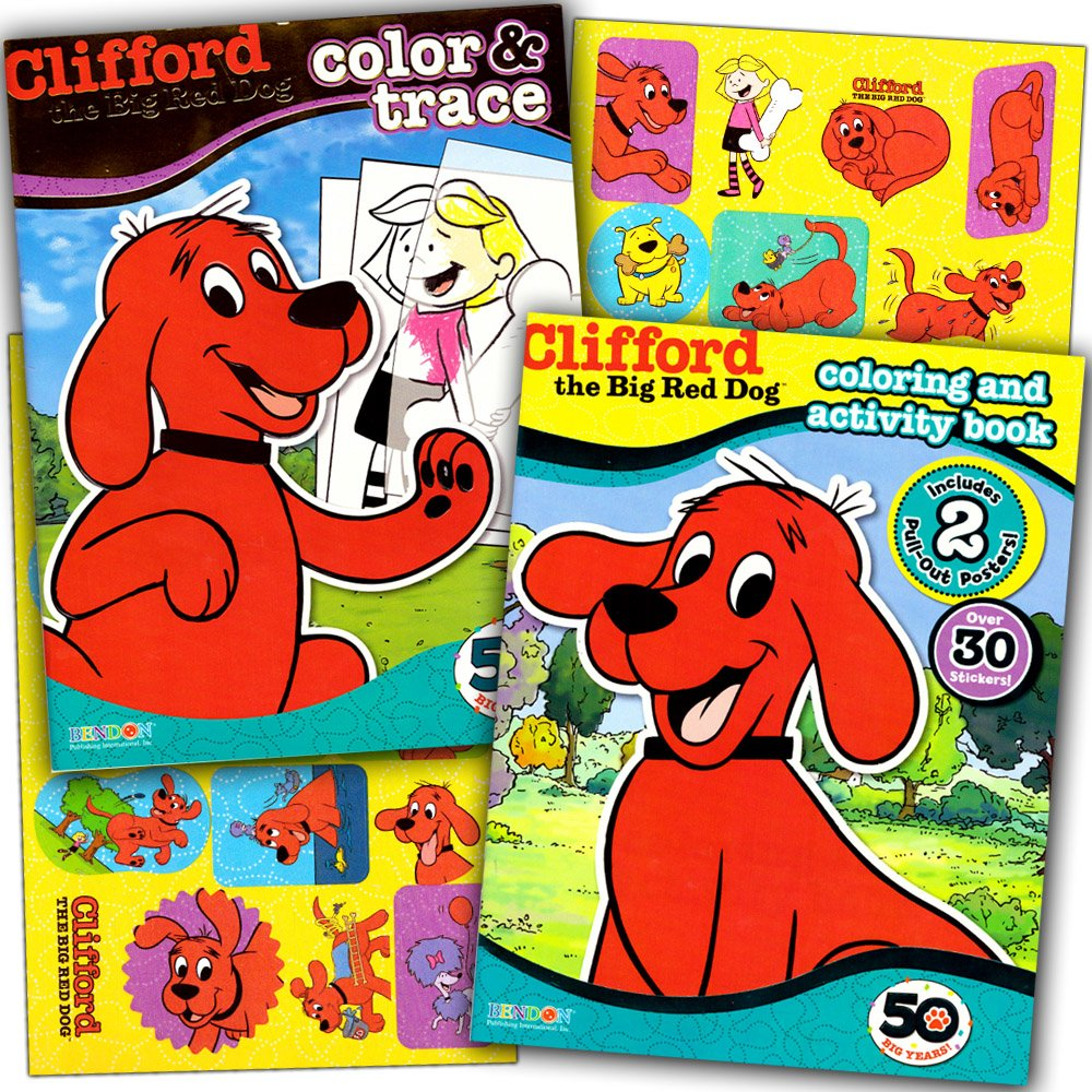 amazon com clifford the big red dog coloring book super set 2