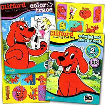 Clifford The Big Red Dog Coloring Book Super Set 2 And Activity Books