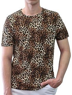 32bc85f5ee20 Amazon.com: uxcell Mens V Neck Long Sleeve T Shirts Leopard Print ...