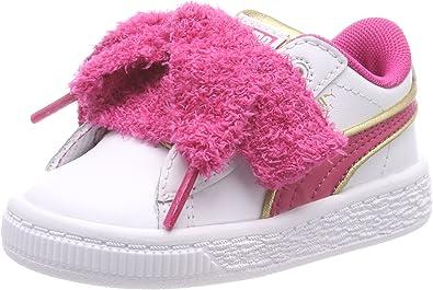 puma basket rosa bimba