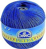 DMC Petra Yarn, 100 Percent Cotton, Blue, Size 5