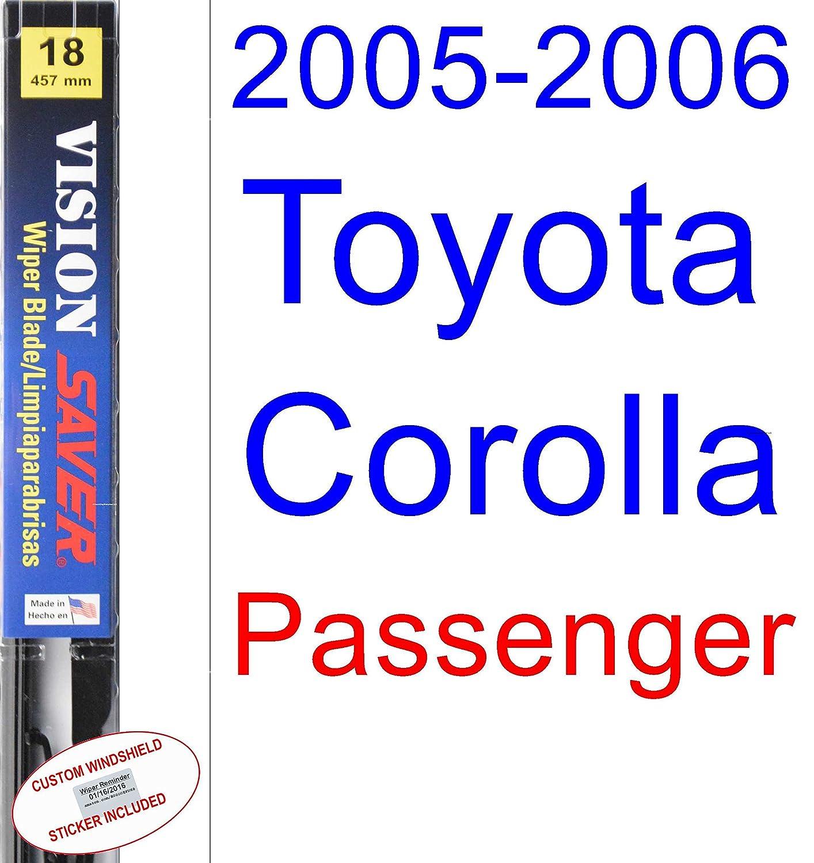 Amazon.com: 2005-2006 Toyota Corolla XRS Wiper Blade (Driver) (Saver ...