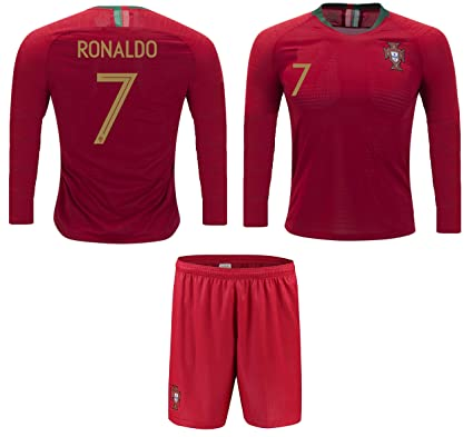 548273f21 Portugal Cristiano Ronaldo  7 Soccer Jersey and Shorts Kids Youth Sizes Home  Football World Cup
