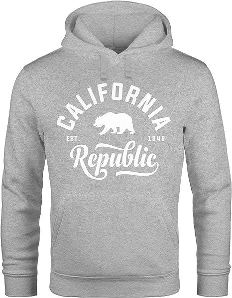 Neverless Hoodie Herren California Republic Kapuzen Pullover Männer