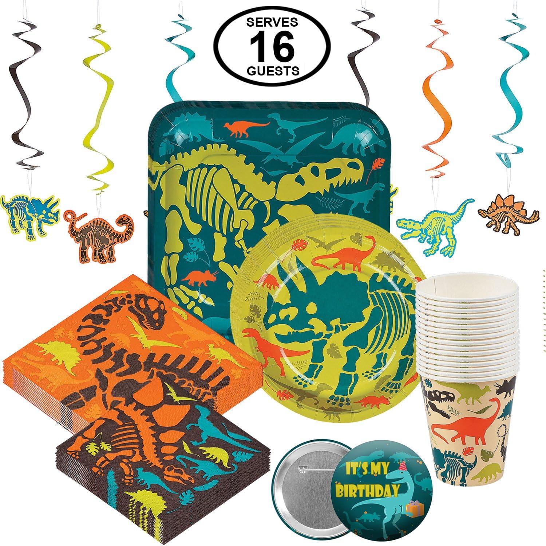 Amazon.com: Dinosaur Dino – Juego de vajilla desechable para ...