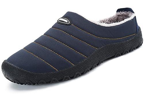 Zapatillas de Estar por Casa Mujer Hombre, Invierno Zapatos de Casa con Forro de Piel