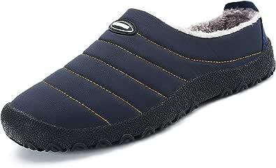 Zapatillas de Estar por Casa Mujer Hombre, Invierno Zapatos de Casa con Forro de Piel - Cálidas y Cómodas - con Suela Antideslizante para Exterior e Interior