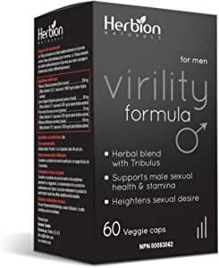Herbion Naturals Virility Formula - Better Energy, Strength, Performance and Stamina - 60 Count