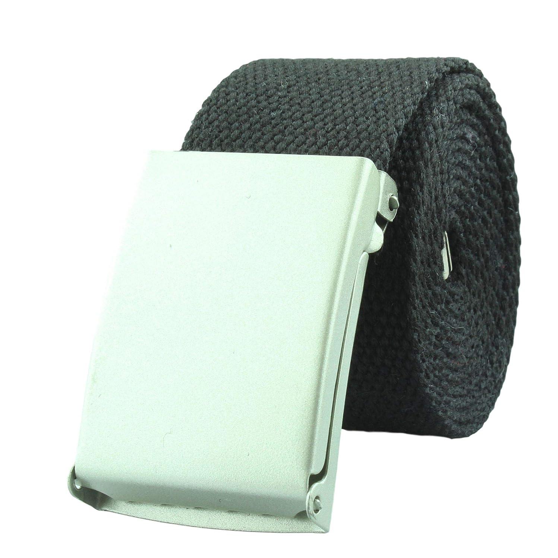 Cintur/ón de tela alta calidad de ancho de 4 cm con cierre desplegable en varios colores 85cm asta 125cm Tama/ño de la cintura