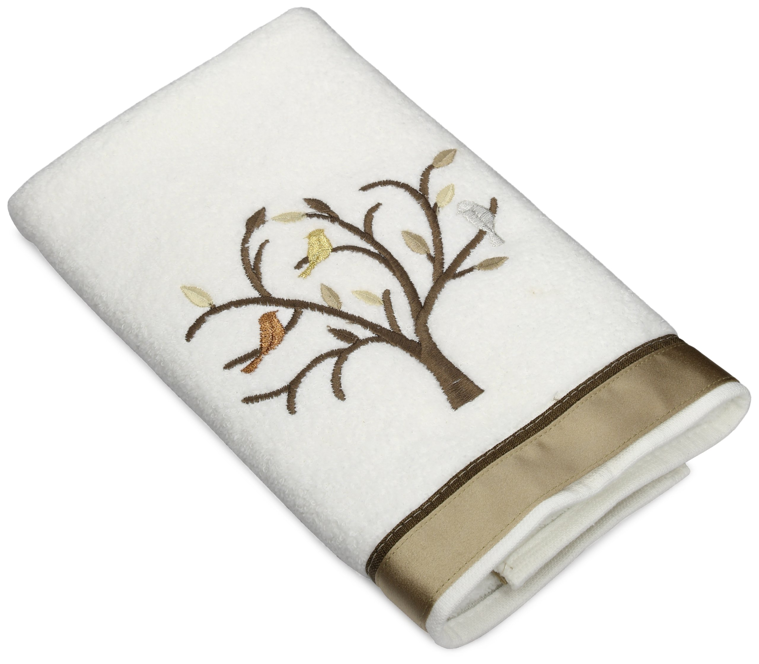 Avanti Linens Friendly Gathering Hand Towel, White