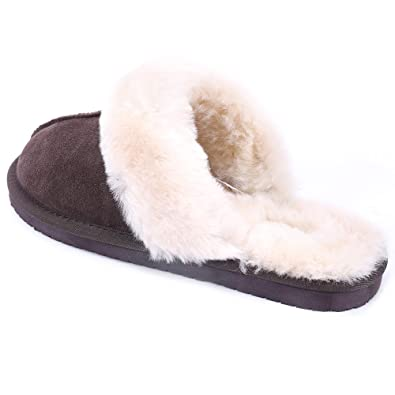 5eeabfe3d06ca Amazon.com | Lamb Women Leather Wool Slippers | Slippers