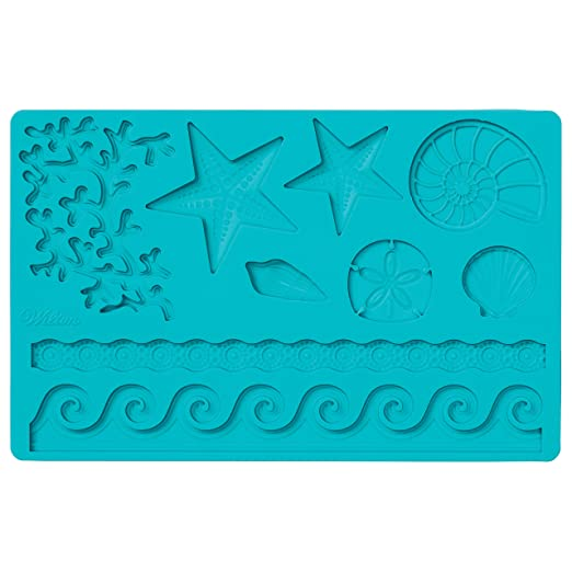 Wilton Fondant and Gum Paste Silicone Mold, Sea Life at amazon