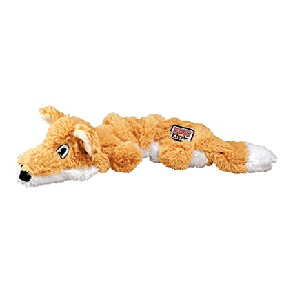 e38a891e836d Pet Supplies : Pet Squeak Toys : KONG Scrunch Knots Fox Dog Toy ...