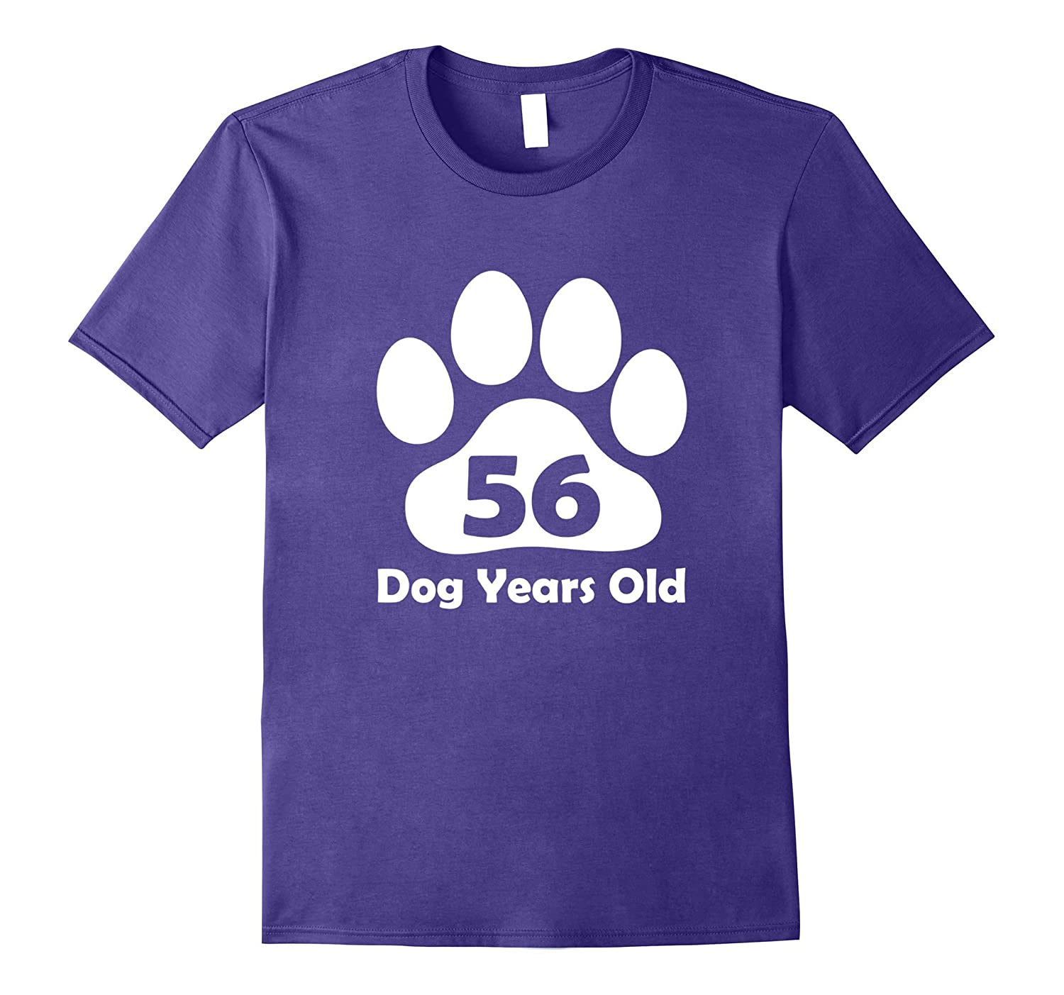 56 Dog Years Old T-Shirt Funny 8th Birthday Gift Puppy Lover-Vaci