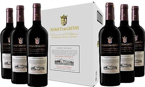 Caja de Marqués de Griñón Cabernet Sauvignon - 6 botellas x 750 ml: Amazon.es: Alimentación y bebidas