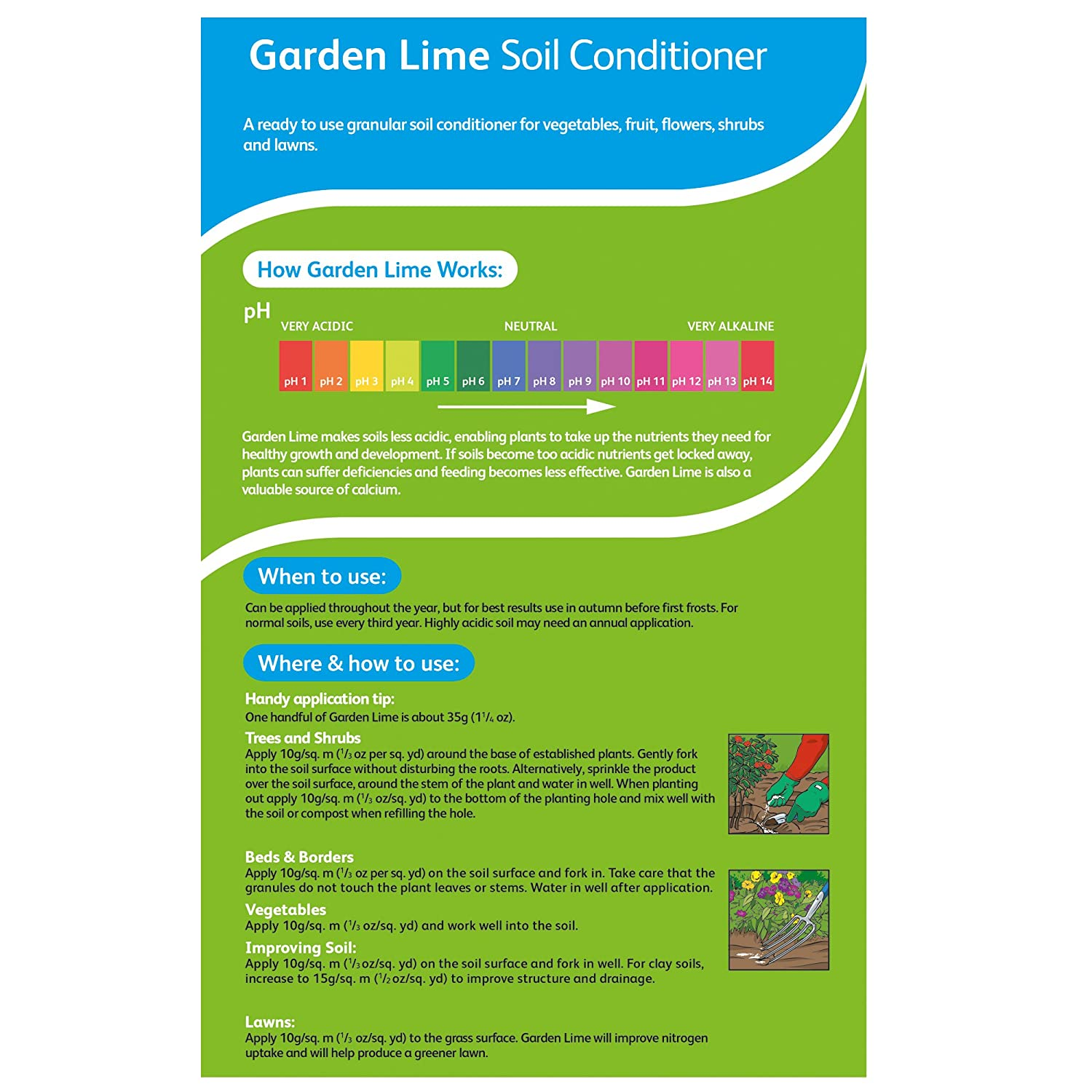 Westland Garden Lime Soil Conditioner 3 5 kg Amazon Garden