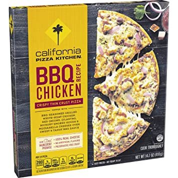 California Pizza Kitchen, Crispy Thin Crust BBQ Recipe Chicken Frozen Pizza,  14.7oz ( Photo