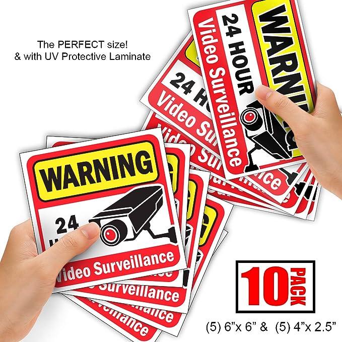 Amazon.com: Video Vigilancia de la seguridad Sticker ...