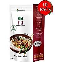 PureRice Arroz Konjac Sin Gluten 10 Pack 200 gramos | Vivir Sin Gluten Con Harina Gluten