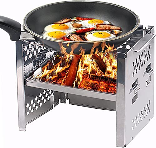 Unigear Wood Burning Camp Stoves Picnic BBQ Cooker Potable Folding Stainless Steel Backpacking Stove