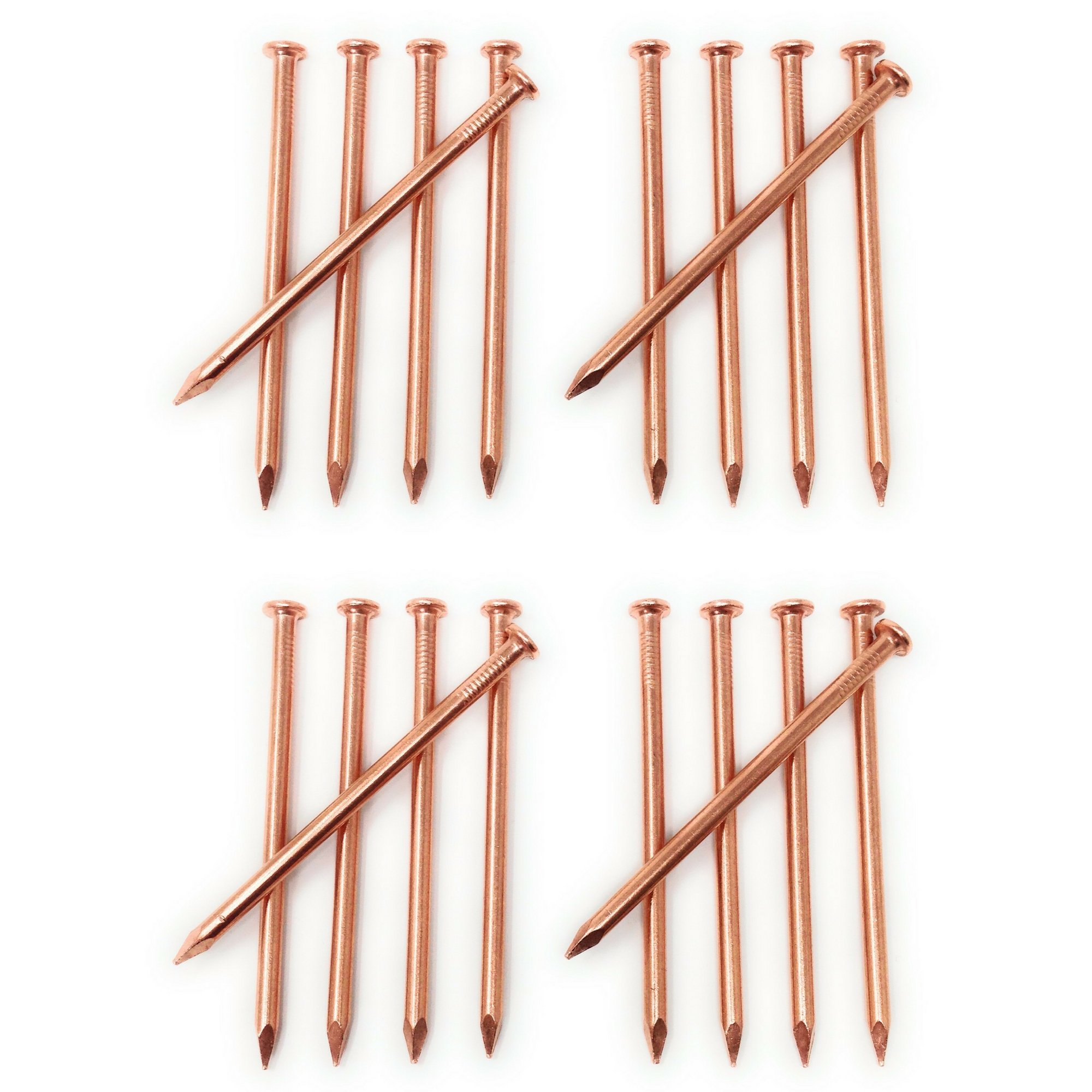 3.5 inch Copper Nails - Pack of 20 Solid Copper Nail Spikes