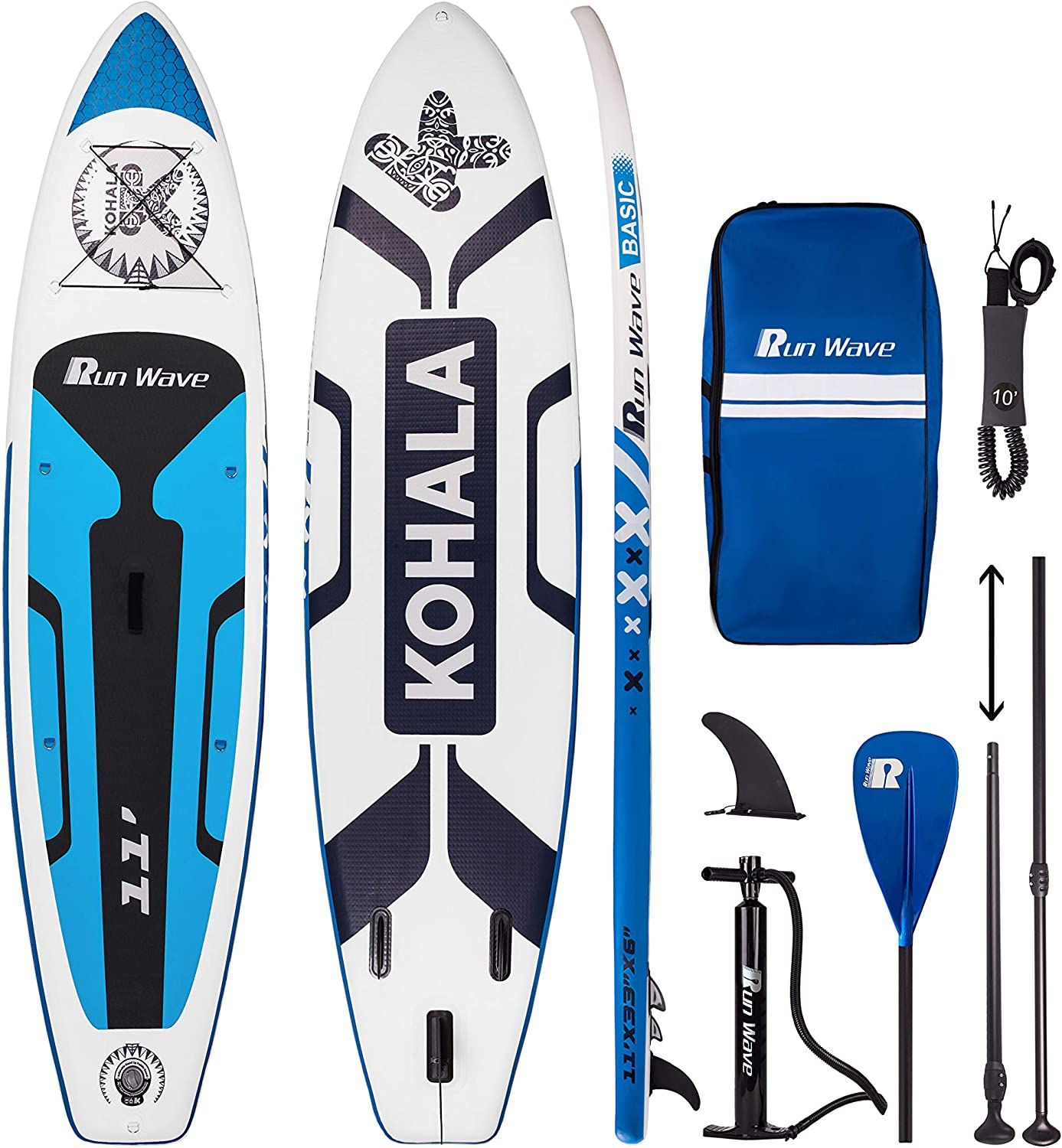 runway cheap inflatable paddle board bundle