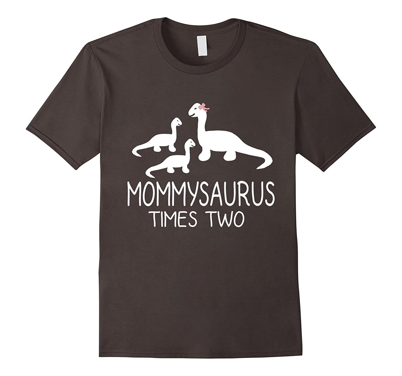 MOMMYSAURUS Fun Mother Mom Baby Kids Dinosaur Twins Tee