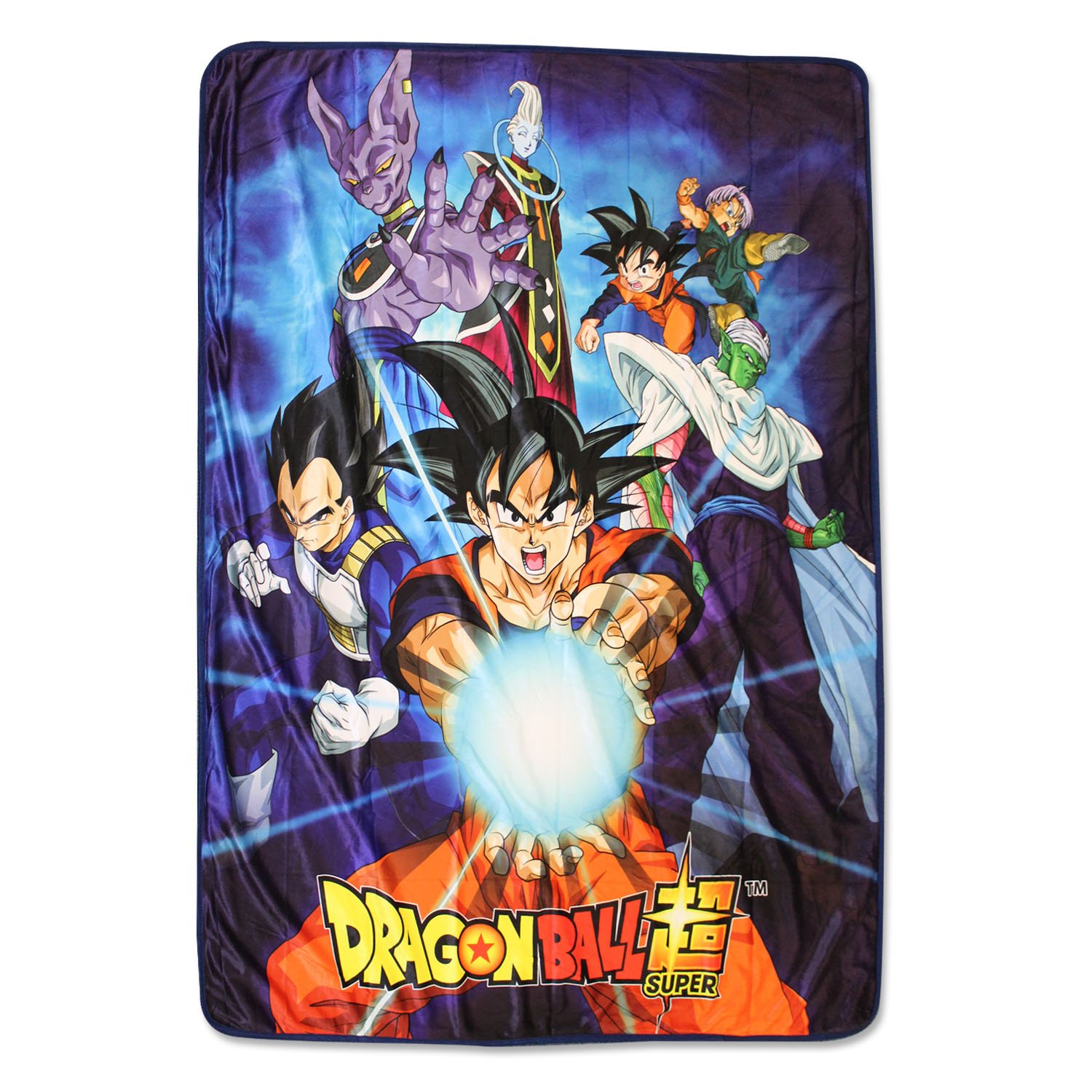 Dragon Ball Z Super Saiyan Group 6 Throw Blanket, Multi-Colored, One Size