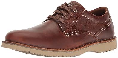 Rockport Men's Cabot Plain Toe Shoe, Brown Leather, ...