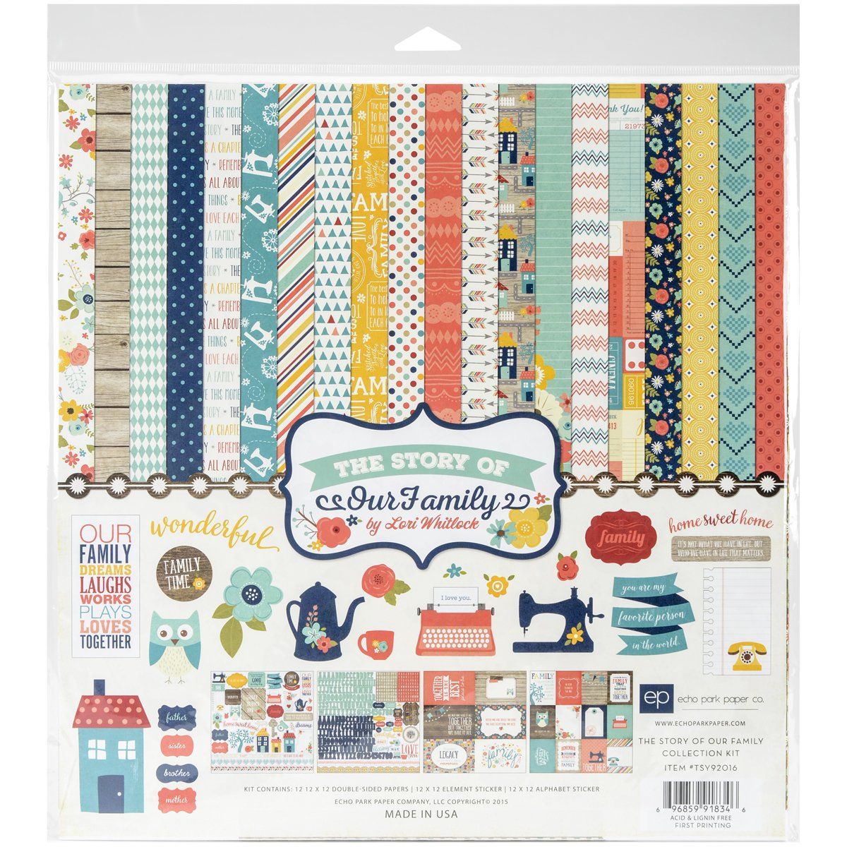 Echo Park Paper Company TSY92016 The Story of Family Collection Kit Echo Park Paper Co.