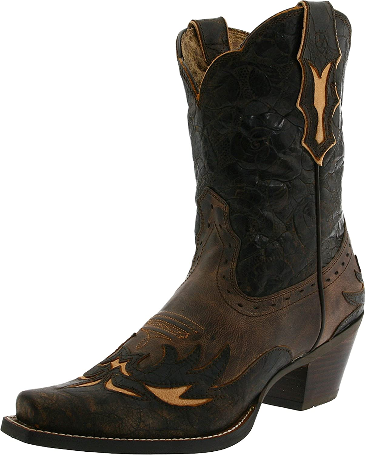 Ariat Women's Dahlia Western Cowboy Boot B004TF8PNQ 9 B(M) US|Silly Brown/Chocolate Floral