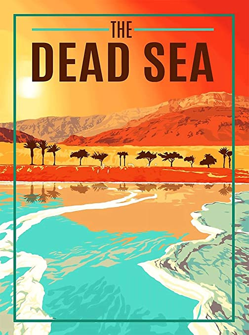 Amazon.com: A SLICE IN TIME The Dead Sea Israel Jordan Middle East Retro Travel Home Collectible Wall Decor Advertisement Art Poster Print. 10 x 13.5 inches: Posters & Prints